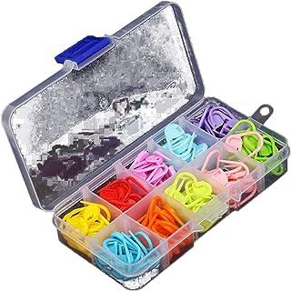 120 pcs 10 couleurs à tricoter point de comptoir Crochet de verrouillage point marqueurs Aiguille Crochet Crochet Aiguille...
