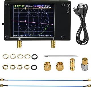 Kacsoo Analyseur de réseau vectoriel NanoVNA V2 Écran tactile LCD 2.8pouces Antenne Ondes Courtes Analyseur d'antenne, jau...