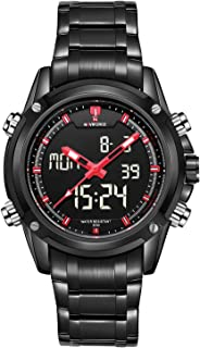 Naviforce Dress Watch For Men Analog-Digital Stainless Steel - 9050 B-B-R