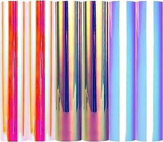 TECKWRAP Opal Chrome Holographic Precut Sheets, Mermaid