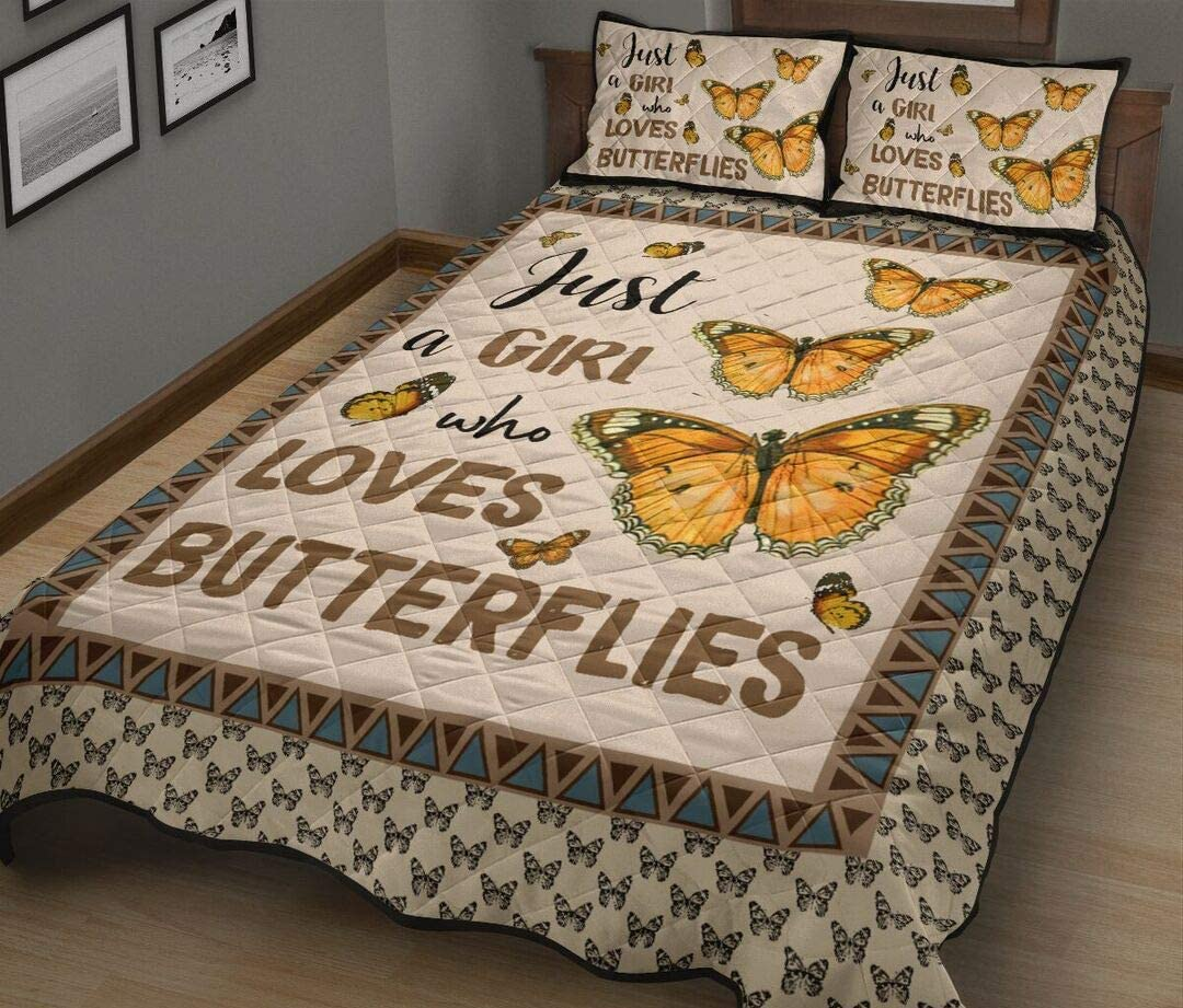 ENCYCOM Butterfly Quilt service Sets OFFicial store Just A King Girl - Birth Size