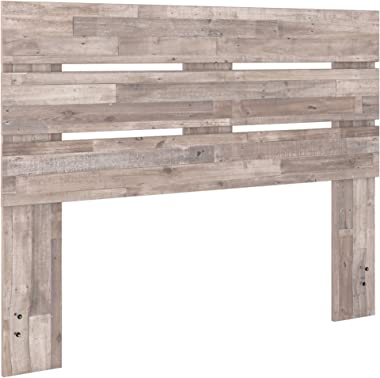 Signature Design by Ashley Neilsville Platform, Queen, Whitewash Butcher Block