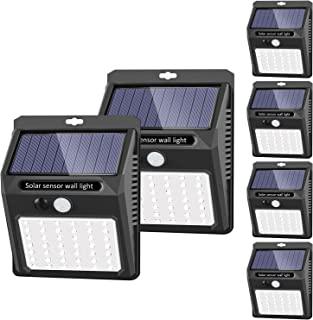 Best Solar Lights Outdoor [42 LED/3 Working Mode], SEZAC Solar Security Lights Solar Motion Sensor Lights Wireless IP 65 Waterproof Outdoor Lights for Garden Fence Patio Garage (6 Pack) Review
