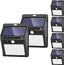 Solar Lights Outdoor [42 LED/3 Working Mode], SEZAC Solar Security Lights Solar Motion Sensor Lights Wireless IP 65 Waterp...