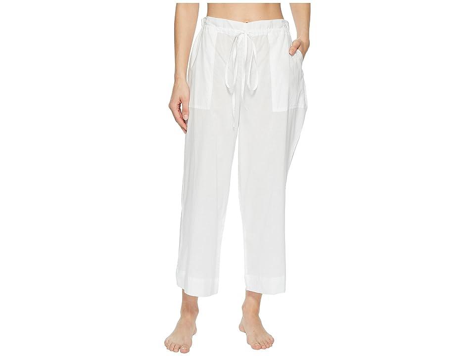 Commando Cotton Voile Crop Pants CV102 (White) Women