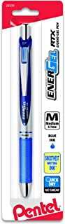 Pentel EnerGel  Deluxe RTX Retractable Liquid Gel Pen, 0.7mm, Metal Tip, Blue Ink, 1 Pack (BL77BPC)