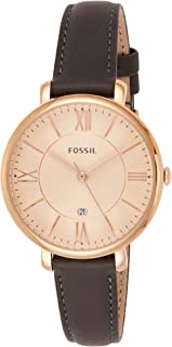 Fossil Jacqueline for Women - Dress Leather Band Watch - ES3707P