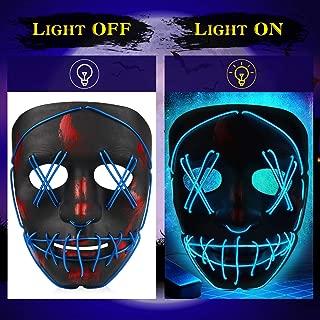 neon halloween mask