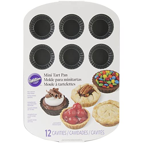 Wilton Non-Stick Mini Tart Pan, 12-Cavity