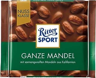 Ritter Sport Whole Almonds Chocolate Bar Candy Original German Chocolate 100g/3.52oz