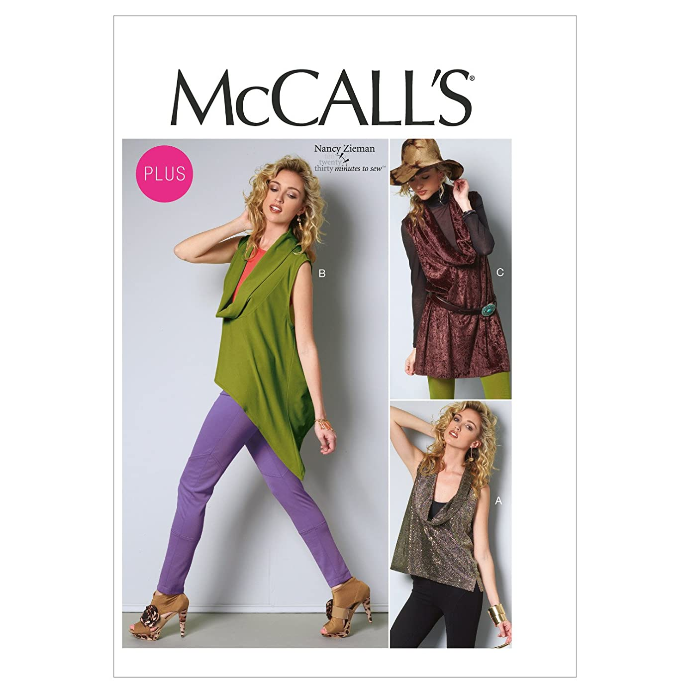 McCall Patterns M6607B50 Misses'/Women's Tops and Tunic Sewing Pattern, Size B5 (8-10-12-14-16)