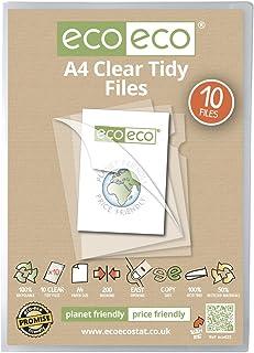 Paquete de 10 archivadores eco-eco, de tamaño A4, elaborados a partir de materiales 50% reciclables