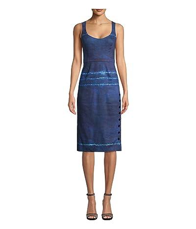 Nicole Miller Shibori Scoop Neck Dress (Shibori Stripe) Women