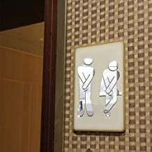 💕💕 Toilet Room Sign Decorative Bathroom Sign For Hotel Bar Restaurant Mirror Wall