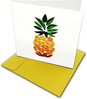 Pineapple Quilling Greeting Card, 6x6
