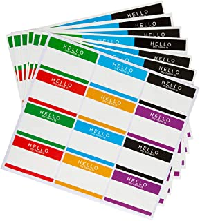 324 Pieces Name Tag Label Stickers/Hello My Name is Self-Adhesive Stickers for School Office Home (5X7 cm)