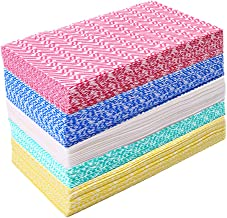JEBBLAS Disposable Dish Cloth Dish Towels and Reusable Cleaning Towels, Handy Cleaning Wipes,Handi Wipe 5 Colors, 60 Sheet...