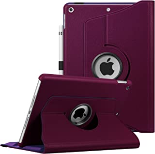 """Fintie Case for iPad 7th Generation 10.2 Inch 2019-360 Degree Rotating Smart Stand Protective Back Cover, Supports Auto Wake/Sleep for iPad 10.2"""" 2019 Tablet, Purple"""