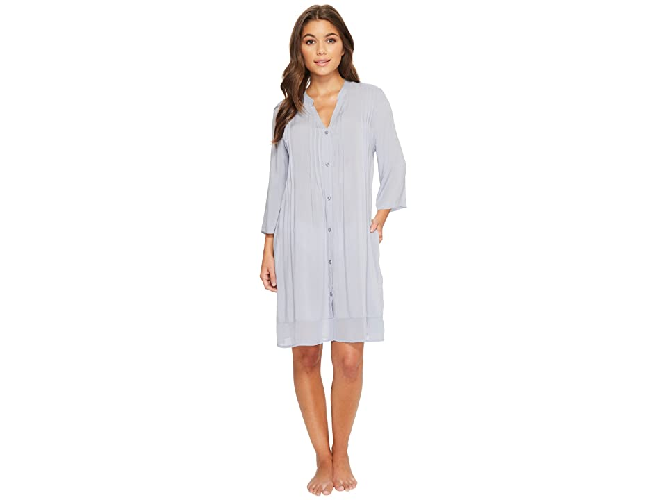 Donna Karan Viscose Slub Woven Sleepshirt (Porcelain Blue) Women