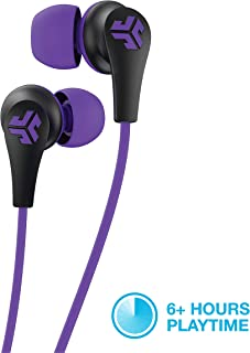 JLab Audio JBuds Pro Bluetooth Wireless Signature Earbuds | Titanium 10mm Drivers | 6-Hour Battery Life | Music Controls | Noise Isolation | Bluetooth 4.1 Extra Gel Tips and Cush Fins | Black/Purple