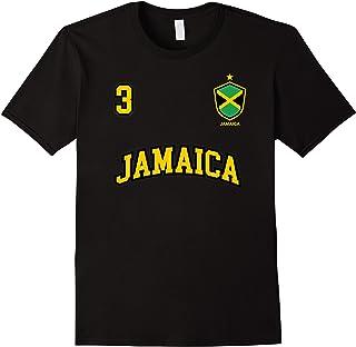 Jamaica Shirt Number 3 BACK Soccer Team Sport Jamaican Flag