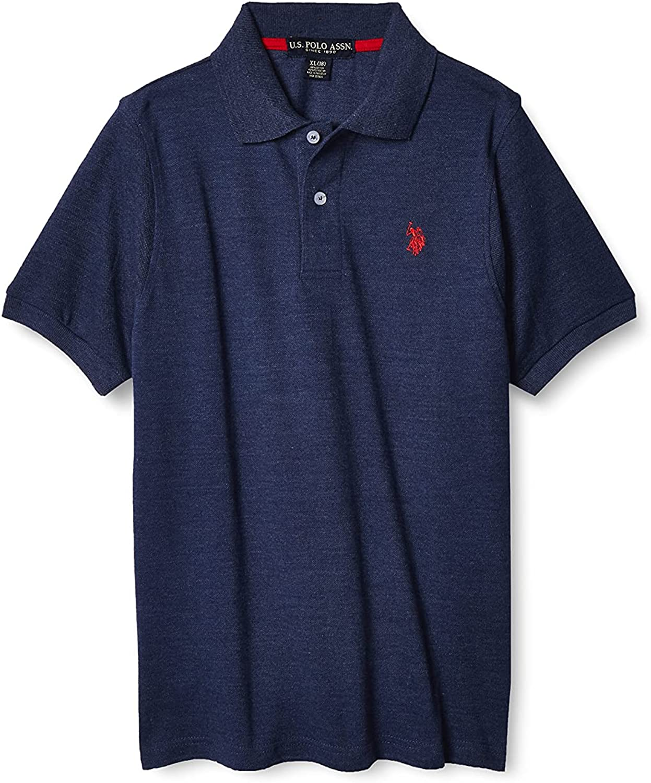 U.S. Polo Assn. Boys' Short Sleeve Pique Polo Shirt