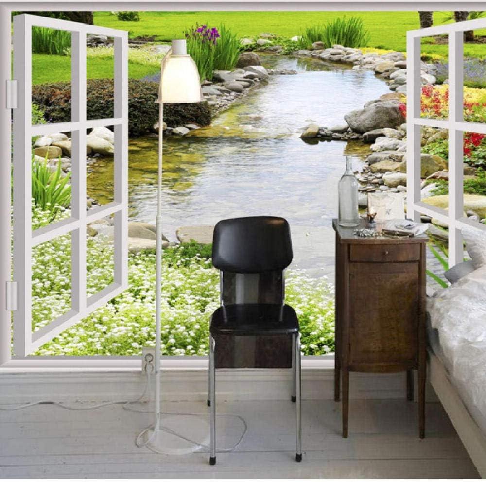 Pbldb Custom Max Shipping included 48% OFF Waterproof Mural Wallpaper Window 3D Stone River Ga