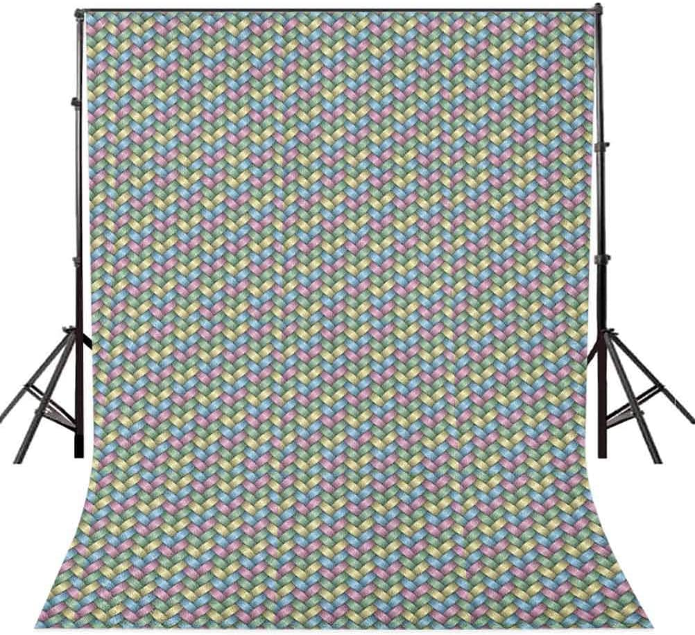8x12 FT Geometric Vinyl Photography Backdrop,Chevron Herringbone Pattern Vintage Palette Hipster Design Wavy Lines Abstract Background for Baby Birthday Party Wedding Studio Props Photography