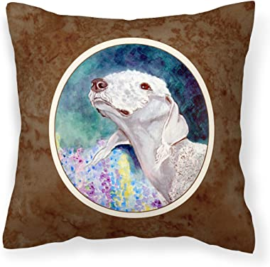 Caroline's Treasures 7226PW1414 Bedlington Terrier Fabric Decorative Pillow, 14Hx14W, Multicolor