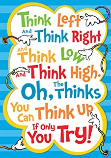 Eureka Dr. Seuss Oh, the Thinks You Can Think! 'Think Left, Think Right' Classroom Poster, 13'' W x 19'' H