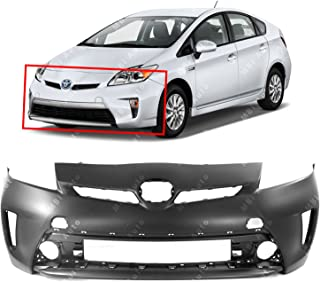 MBI AUTO - Primered, Front Bumper Cover Fascia Replacement for 2012-2015 Toyota Prius 12-15, TO1000394