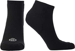 Doctor`s Choice Plantar Fasciitis Compression Socks, Arch Support for Men & Women, 10-20 mmHg Compression (Black, X-Large)