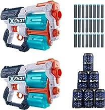 X-Shot Excel Double Xcess Foam Dart Blaster (24 Darts, 6 Cans) by Zuru