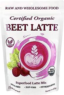 Cherie Sweet Heart Beet Latte Plant-Based Powder Drink Mix, Beet, Goji Berry, Cinnamon, Ginger, Black Pepper Powder, Organ...