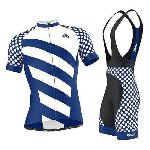Men's Urban Cycling Short Sleeve Jersey, Bib Shorts, or Kit Bundle