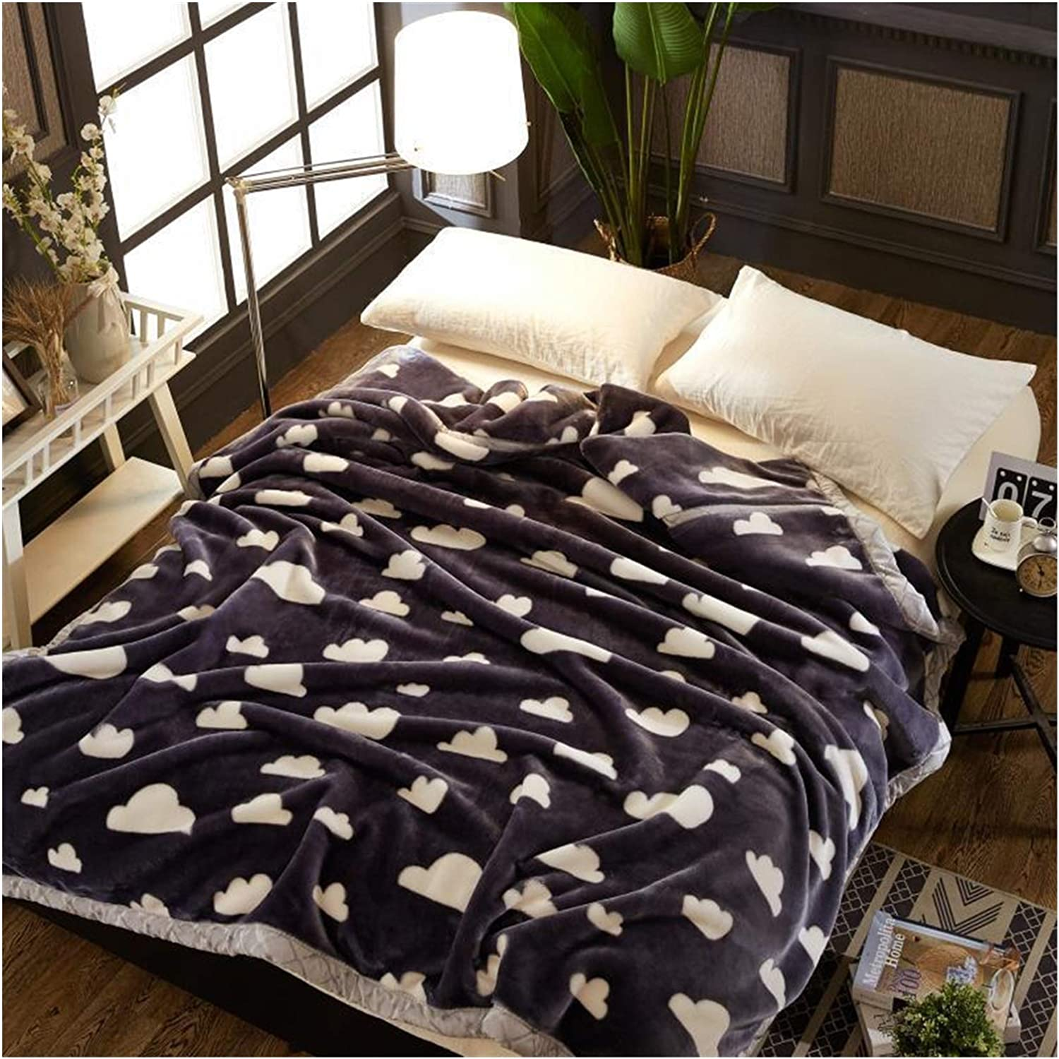 JDJD Double Layer Max 72% OFF Winter Thicken Blanket Plush Quantity limited Raschel Weighted