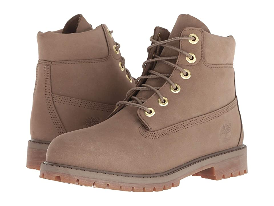 Timberland Kids 6 Premium Waterproof Boot (Big Kid) (Dark Beige Nubuck) Kids Shoes