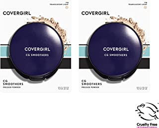 Covergirl Smoothers Pressed Powder, Translucent Light 710, 0.32 Fl Oz, 2 Count