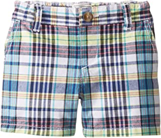 The Children's Place Baby Boys' White Plaid Short