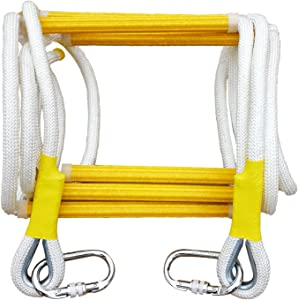 Rope Ladder Fire Escape Ladder - Evacuation Climbing Rescue Ladder for an Emergency, Portable Safety Soft Life Ladder Rope for Home Window Balcony Railing, 8 Feet,Tested to 2000 Pounds,Reusable