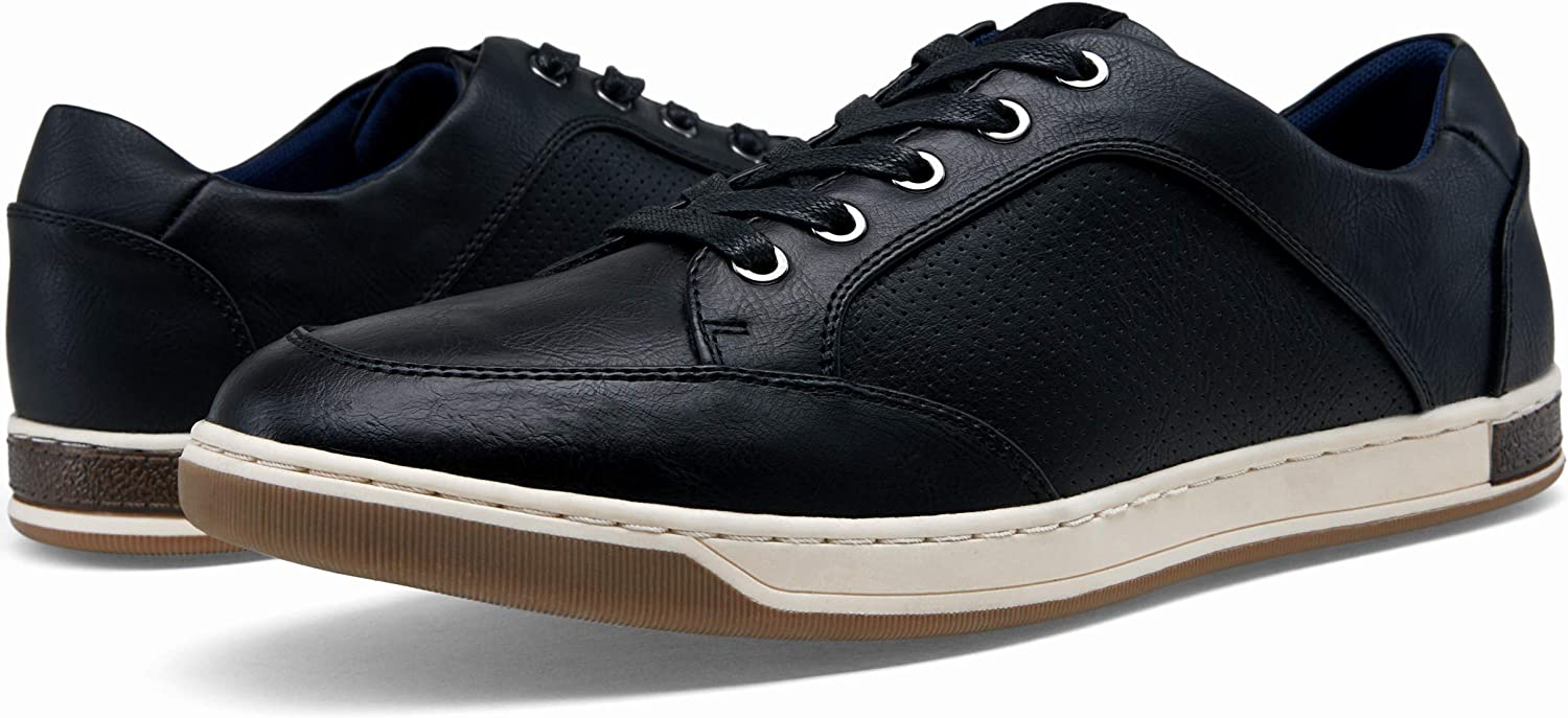 VOSTEY Men's Fashion Sneakers Casual Shoes for Men Business Sneaker Oxfords Oxford Sneaker81q16 Black