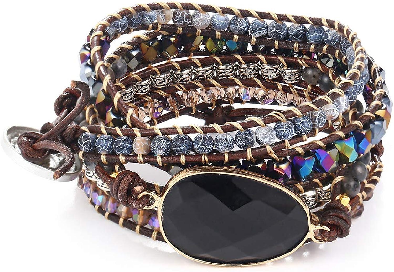 ivyAnan Max 58% OFF Jewellery Women's Wrap Handmade Stone Ranking TOP11 Bracelets Natural