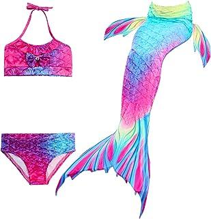 f89ac3df4046 NMY Coda da Sirena per Nuotare Costumi da Bagno 3pcs Mermaid Insiemi del  Bikini Cosplay Costume