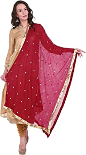 Best red chiffon saree with golden border Reviews