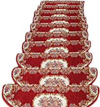 JIAJUAN Stair Carpet Treads Non-Slip Hard Wearing Rubber Rugs Pads Tread Home, 5 Colors, 4 Sizes, Customizable (Color : C-...
