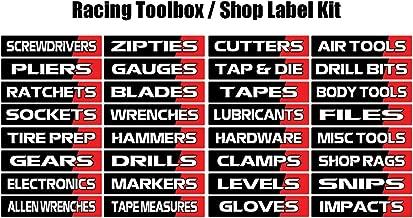 Toolbox Label Vinyl Decal Kit - Racing Edition - Toolbox, Trailer, Shop Label Kit