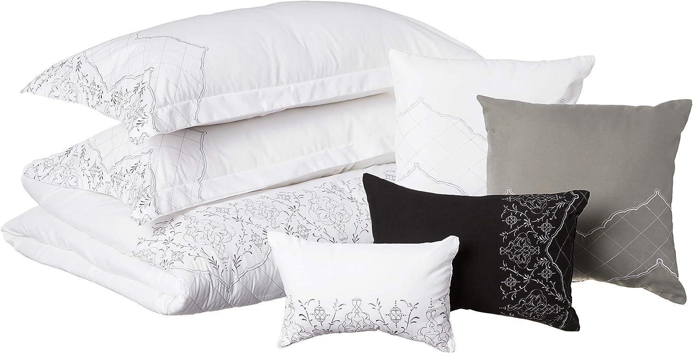 Chic Home 105CK107-AN Grace 8-Piece White King Virginia Beach Mall Popularity Comforter Set