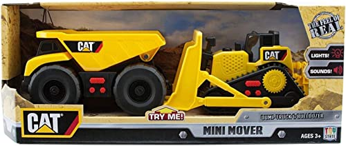 CAT Mini Mover Dump Truck & Bulldozer Construction Toy Vehicles