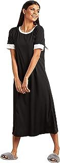 فستان نوم للنساء باكمام متباينة بنمط تي شيرت