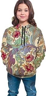 Boys Girls Hoodies Pullover Unisex 3D Tropical Flower Vine Print Sweatshirts Hooded with Pocket 6-16Y